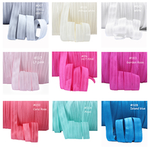 "Wholesale 5/8"" foe ribbon, solid color fold over elastic for garment, pls note the color code when place your order(China)"