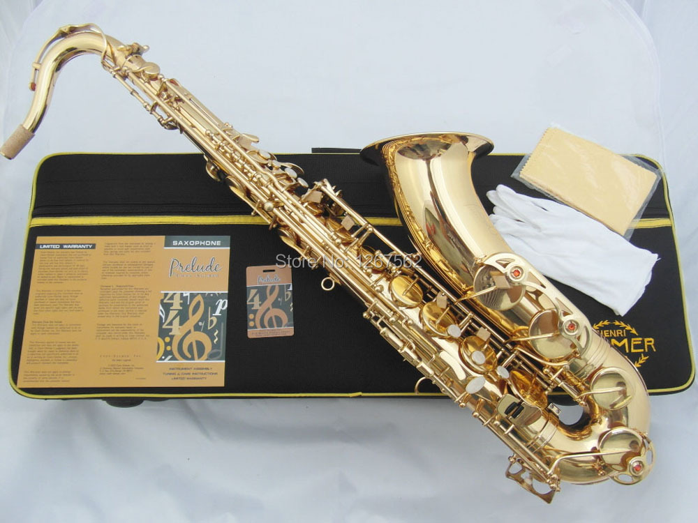 High Quality France Henri Selmer Bb Tenor Saxophone Instruments Super Action 80 Series II Brass Gold Surface Saxophone(China)