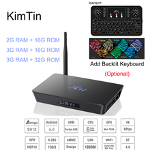 Buy KimTin X92 32GB 16GB 3GB 2GB Android 6.0 Set Top Box Amlogic S912 Octa Core 64Bit CPU 5G Wifi 4K H.265 BT4.0 Smart TV Box Vs X96 for $59.66 in AliExpress store