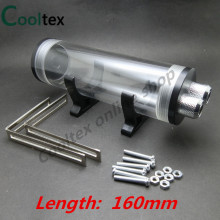 100% New 160mm Cylindrical Acrylic Water Tank For Computer Water Cooling Tank Cooler With Installation Accessories