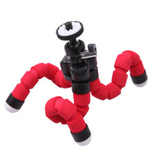 10Pcs Wholesale Flexible Plastic +Sponge Octopus Tripod Stand Mount For iphone 7 Android smart Phone Phone Accessories