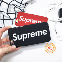 Luminous Case Supreme for iphone 7 7plus 5s 6 6plus Luxury Matte Phone Cover Coque Fundas Capas Fashion tide brand phone cases