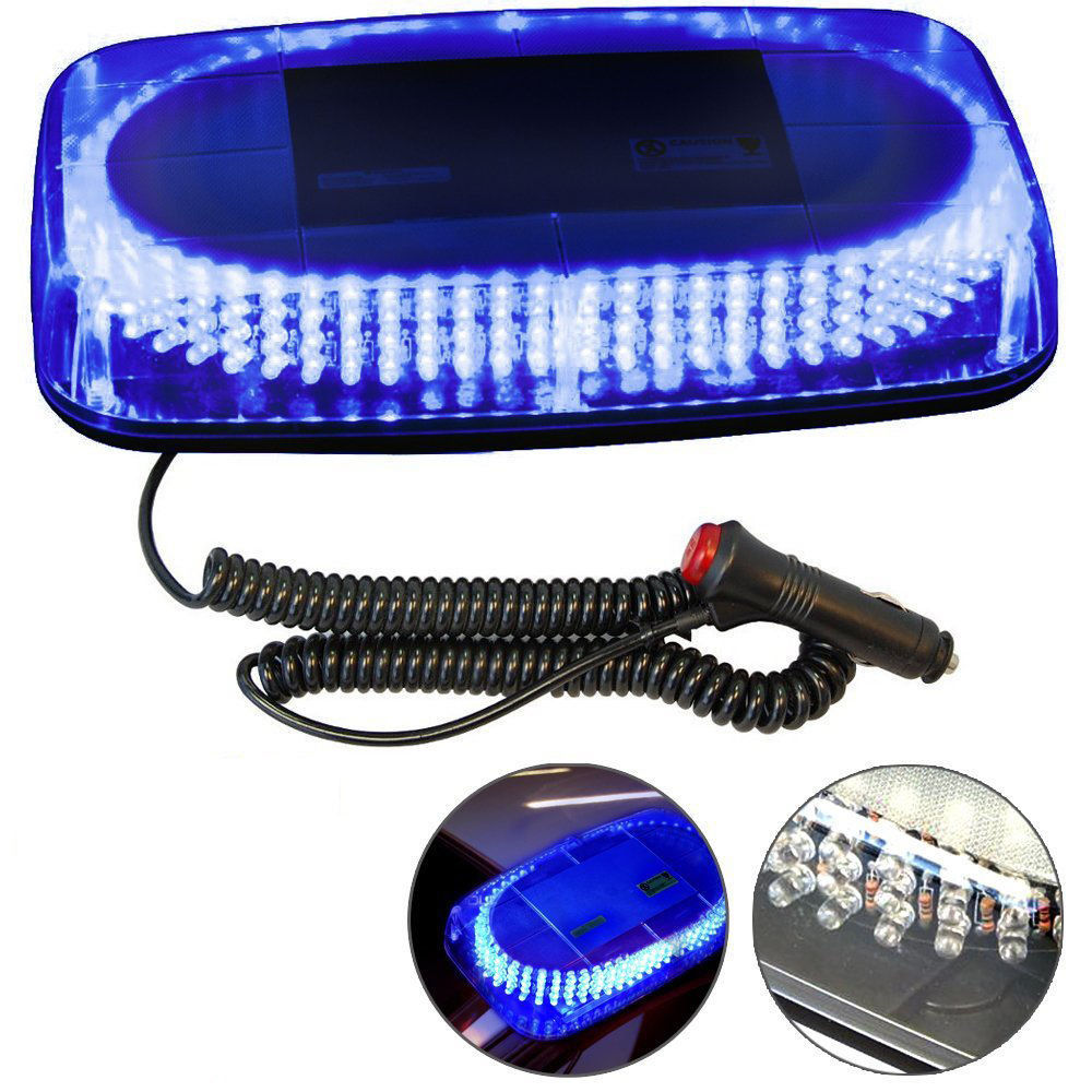 CYAN SOIL BAY 240 LED Car Police Strobe Flash Light Dash Emergency 7 Flashing Light Blue<br>