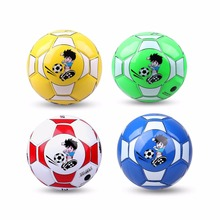 Official Size 2 Standard PU Leather Soccer Ball Training Football Indoor Outdoor With Free Net Needle For Children Students gift(China)
