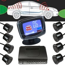 Weatherproof 8 Rear Front View Car Parking Sensors System Auto Vehicles Reverse Backup Radar Kit with LCD Display Monitor(China)