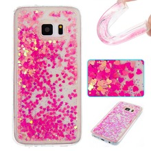 Quicksand Glitter Stars Flowing Water Liquid Case For Samsung Galaxy S5 S6 S7 Edge J3 A3 A5 2017 J5 J7 prime Cover Phone cases(China)