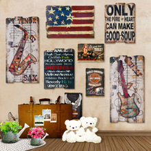 24 styles Creative Retro Wood WALL Painting Gifts DIY Handmade Drawing Art Unique For Home Bar Coffee Decorative Wooden Ornament