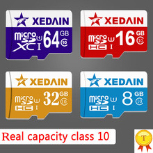 Full Size Memory Cards Micro SD Cards 32GB Class10 Grade Memory Cards 64gb 16gb Class 10 Microsd TFcard for Cellphone/TA XEDAIN(China)