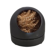 Best selling Soldering Iron Tip Cleaning Wire Nozzle Cleaner Sponge Ball w Storage Holder