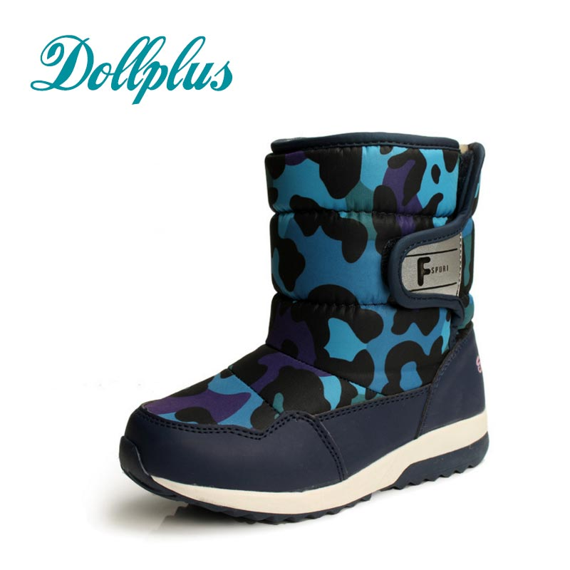 2017 New Winter Kids Warm Snow Boots Children Warm Boys Boot Chaussure Enfant Hivers Waterproof Non-Slip Shoes Eyr Size 27#-32<br>