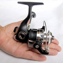 PS15--2+1BB 5.2:1 Mini Ice Reel Palm Spinning Fishing Reel Small Metal Spool Front Drag Rock & Lure Fishing Tackle
