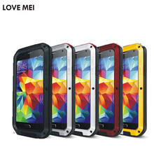 Love mei powerful waterproof metal phone cases cover for samsung galaxy S5 S6 S7 edge plus note 2 3 5 4 Edge A3100 A5 A7 A9 case