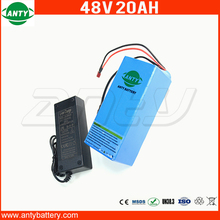1800W 20Ah 48V eBike Battery For 18650 Cell Built-in 50A BMS Lithium Battery 48V With 2A Charger Electric Bicycle Battery 48V