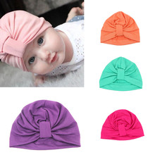 Baby Hats Children Baby Caps Cotton Unisex Girls Boys Hats Newborn Photography Props Candy Color Beanies Accessories(China)