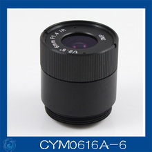 "3MP. cctv camera lens 6mm Fixed Iris lens, 1/2.5"" cs  for Security Camera, Free shipping.CYM0616A-6"