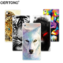 Buy GerTong Soft TPU Cover Case Sony Xperia M4 Aqua Z3 Compact Z1 Mini XA Wolf Tiger Painting Cases Protective back Cove for $1.25 in AliExpress store
