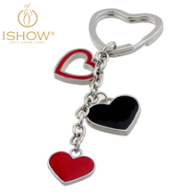 Hot heart keychain porte clef fourrure key chain women key rings for valentine key chains cubre llaves llavero gift jewelry