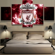Home Decor Living Room Frame Modular Canvas Football Pictures HD Print 5 Pieces Painting Sports Team Fans Wall Art Poster PENGDA