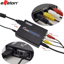Effelon s video to hdmi 3RCA AV S-Video R/L Audio Vdieo Converter Adapter Support 720P/1080P with RCA/S-video Cable
