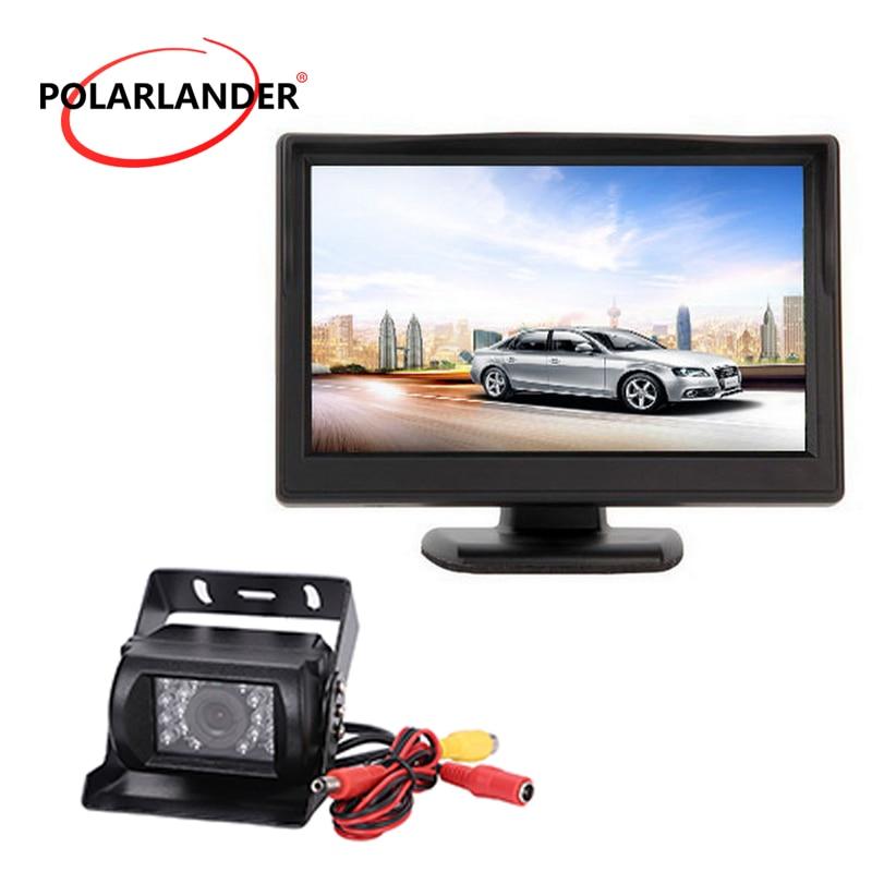 3.5 inch TFT LCD Car Monitor Auto TV 12-36v Square Voltage Reversing Camera Monitor Backup Reverse Monitor Car Electronics & Accessories
