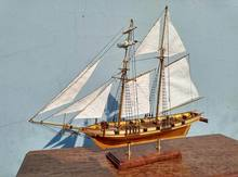 NIDALE model updated version Classic wooden sail boat model kits HARVEY 1847 Ship wood boat model(China)