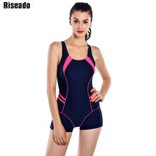 Riseado 2017 Sports One Piece Swimsuits Brand Swimwear Women Shorts Backless Bathing Suits Swimming Suit For Women(China)