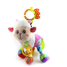 31cm Baby Toys Stroller Cot Bed Hanging Crib Mobile Soft Lamb Sheep Rattle Lathe Rock Teether Plush Toy Newborn Babies 0+ Month