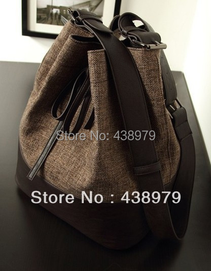 Womens Casual Flax Bucket Bag /shoulder bag free shipping<br><br>Aliexpress