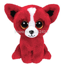 Beanie Cute Stuffed Animal Big Eyes Tomato Red Chihuahua Dog Plush Toy 6'' 15cm Kids Toys for Children Gift(China)