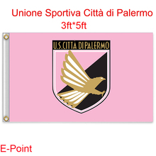 Italy (Serie A) U.S. Citta di Palermo hanging decoration Flag A 3ft*5ft (150cm*90cm)(China)