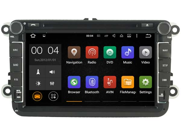FOR SKODA Android 7.1 Car DVD player gps audio multimedia auto stereo support DVR WIFI DSP DAB OBD