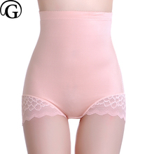 PRAYGER New Women High Waist Slimming Body Panties Lace Sexy Smooth Tummy Trimmer Shaper Lift Butt Underwear(China)