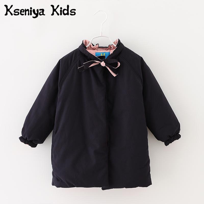 Kseniya Kids Big Little Girl Winter Jackets Coat Thick Cotton Warm Casaco Infantil InvernoÎäåæäà è àêñåññóàðû<br><br>