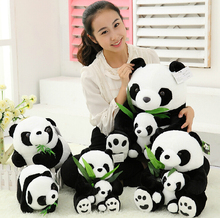 New Sitting Mother and Baby  Kung Fu Panda Plush Stuffed Toys Dolls Cartoon Animal Toys Birthday Gifts 5 Sizes to Choose