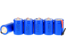 20PCS x Ni-Cd 4/5 SubC Sub C 1.2V 2200mAh Rechargeable Battery with Tab - Blue Color Free Shipping(China)