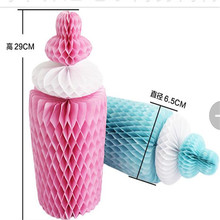 Paper Honeycomb Ball Bottle Birthday Party Decorations Wedding Decoration Garland  Bottle Home Party Valentine Gift