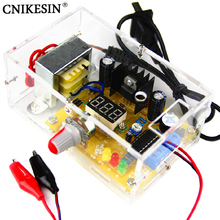 CNIKESIN DIY Kit LM317 Adjustable Regulated Voltage 220V to 1.25V-12.5V Step-down Power Supply Module PCB Board Electronic kits(China)