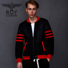 BOY LONDON New Male Autumn Mesh Jacket Coats Zipper Down Red Striped Outerwear Mens Baseball Bomber Jackets Long Sleeves Casaco(China)