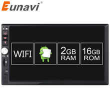 "Eunavi 2 Din Android 6.0 2G RAM 7"" Universal 2Din Car DVD Multimedia Player Radio Stereo GPS Navigation+Touch screen+WIFI+BT(China)"
