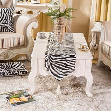New Europe Super Soft Black And White Zebra Striped Table Runner Table Cloth For Wedding Dining Table Home Decorative Two Size