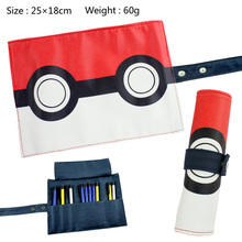 Anime Pocket Monster Students Canvas Stationery Pikachu Poke Ball Children Convenient Storage bag - CCPRO store