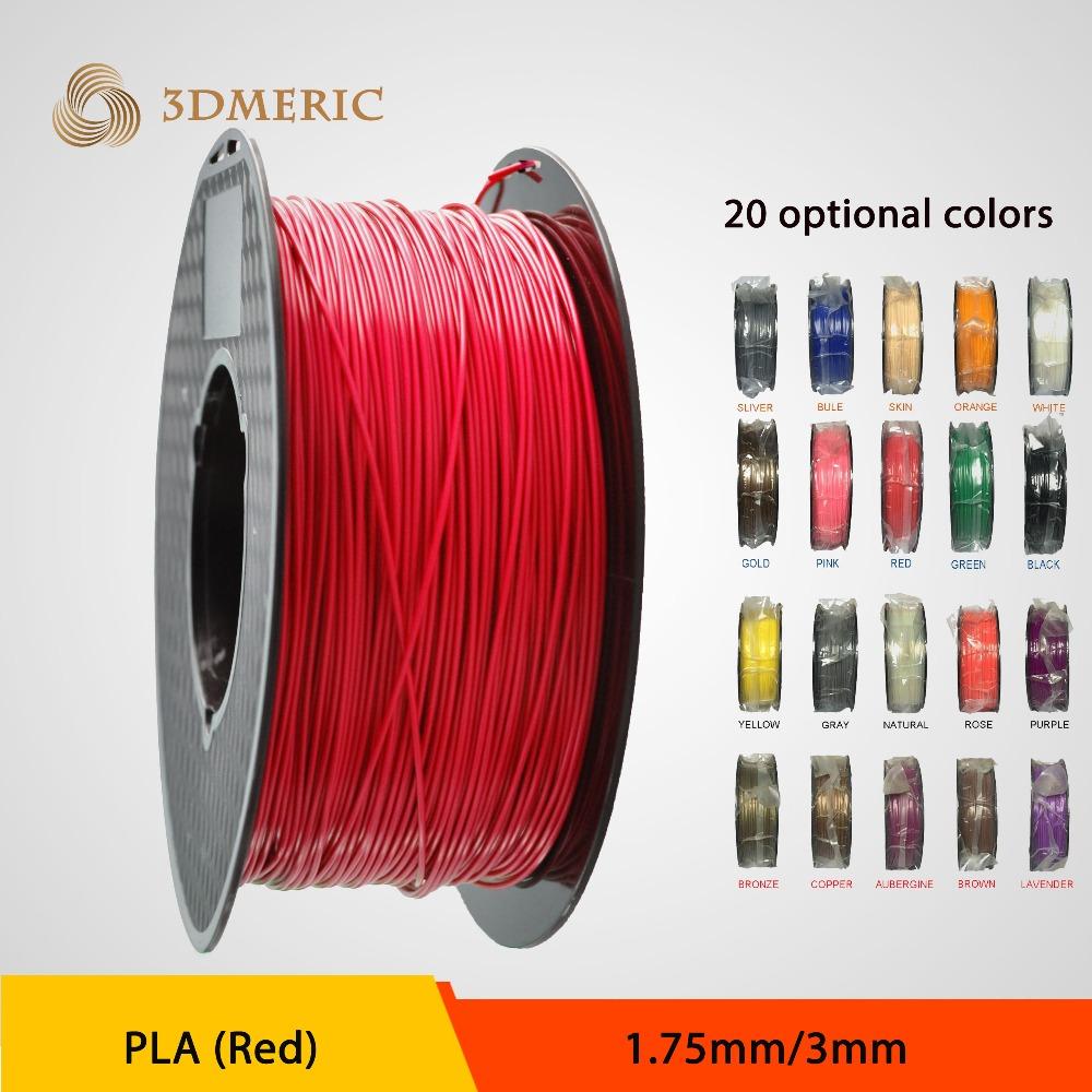1.75mm, 3.0mm, PLA Colored, 3D Printer Filament<br>