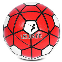 LEIJIAER Size 5 Anti-slip PU Graded Soccer Ball Football 2017 Hot Football Game Training Seamless Soccer Soft Touch Ball(China)