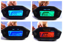 Universal ATV Motorcycle LCD Digital Speedometer For 2-4 Cylinders Odometer Tachometer KMH Gauge Backlight TYB005(China)