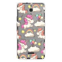 Unicorn Phone Case For Alcatel Idol 5S A2 A3 A7 XL A5 LED PIXI 4 (4 5 6) 3G 4G U5 HD Cute Rainbow Horse Transparent cover(China)