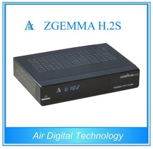 5 pcs/lot DVB S/S2 twin tuner enigma 2 Linux dual core cpu ZGEMMA H.2S Satellite tv decoder no dish