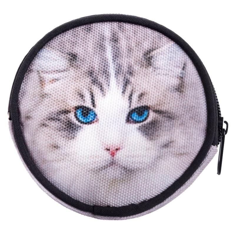 2016 New Fashion Funny Circular Animals Printing Coins Change Purse Clutch zipper Wallet Key Bags Dec9<br><br>Aliexpress