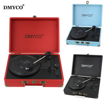 DMYCO Music Audio Bluetooth Players Turntable 45 RPM Vinyl Record Player Support USB/Aux-in for CD Player/Speakers(China)