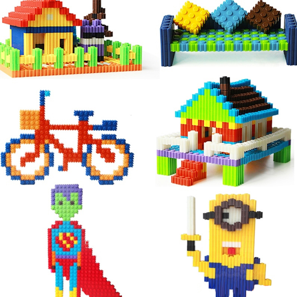 Ucanaan 2017 new Bottled series of small particles of plastic building block building block toys for children creative toys<br><br>Aliexpress