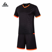 LIDONG New Men Soccer Jerseys Set Youth Kids Survetement Football 2017 Kit Futbol Sports Training suit quick dry maillot de foot(China)